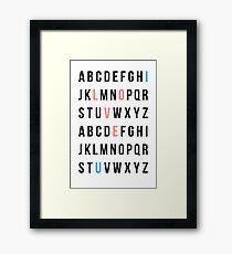 Alphabet Love Framed Print