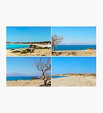 Photo collage with images of Chrissi Island, near Crete, Greece Photographic Print