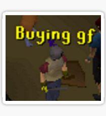 Runescape Buying GF Meme Sticker