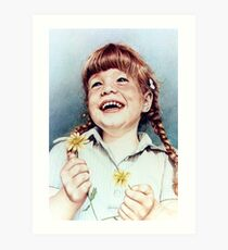 Sherry with Daisies Art Print