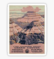 WPA United States Government Work Project Administration Poster 0015 Grand Canyon National Park Service Sticker