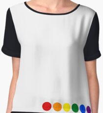 Rainbow dots Chiffon Top