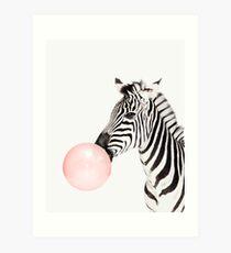 Lámina artística Estampado de cebra, Burbuja de goma, Arte de la guardería, Arte de la pared de cebra, Animal, Sala de niños, Arte moderno, Decoración de la pared