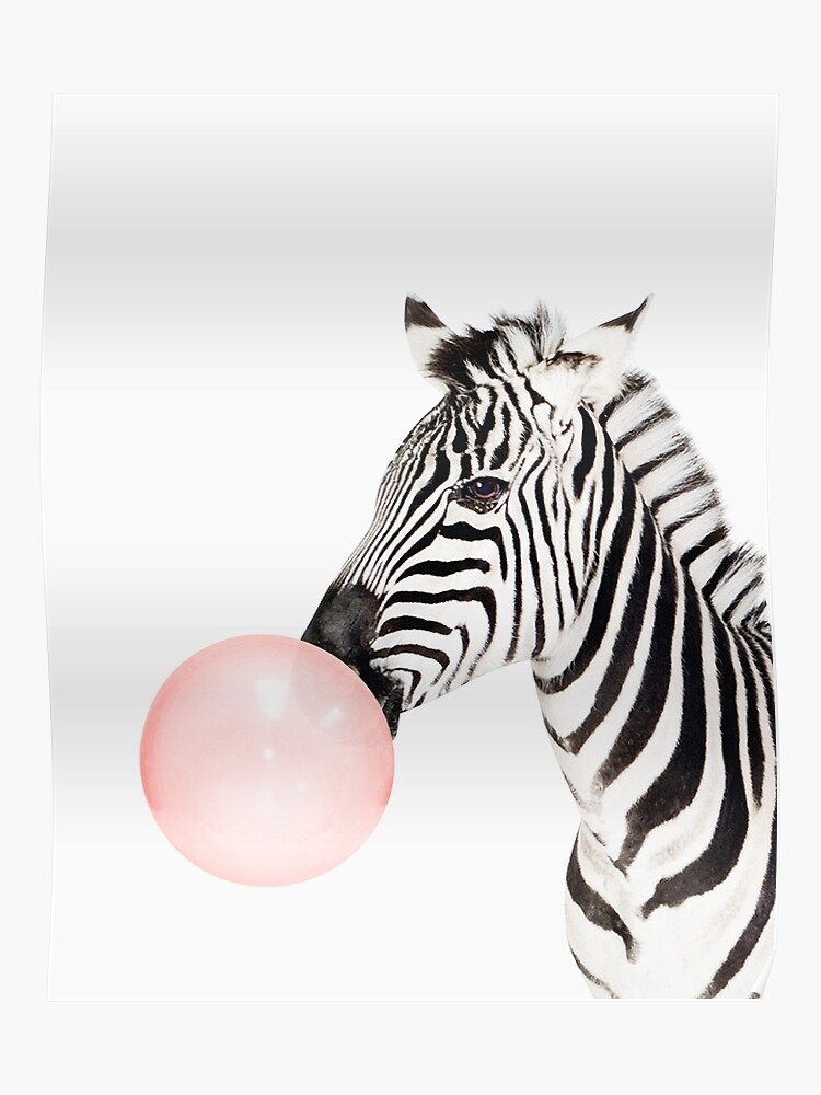 Zebra-Print, Kaugummi, Kindergarten Kunst, Zebra Wandkunst, Tier,  Kinderzimmer, moderne Kunst, Wanddekoration | Poster