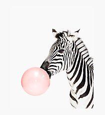 Zebra-Print, Kaugummi, Kindergarten Kunst, Zebra Wandkunst, Tier, Kinderzimmer, moderne Kunst, Wanddekoration Fotodruck