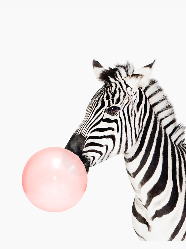Zebra print, Bubble gum, Nursery art, Zebra wall art, Animal, Kids room, Modern art, Wall decor by juliaemelian