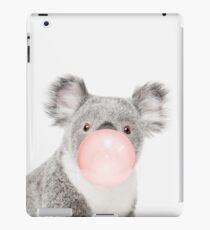 Koala print, Bubble gum, Nursery art, Koala wall art, Animal, Kids room, Modern art, Wall decor iPad Case/Skin