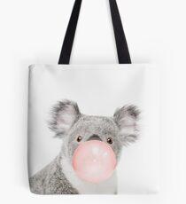 Koala print, Bubble gum, Nursery art, Koala wall art, Animal, Kids room, Modern art, Wall decor Tote Bag