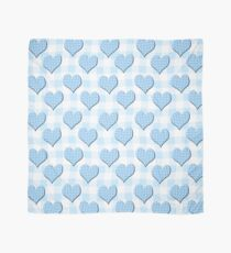 Blue Gingham lovehearts (Digital composition) wallpaper Scarf