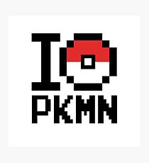 I Love PKMN Photographic Print