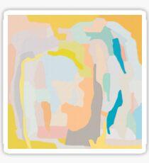 Abstract, Art, Abstract print, Yellow, White, Grey, Orange, Blue, Grey, Modern art, Wall decor Sticker