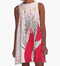 Fox in Shrub A-Line Dress