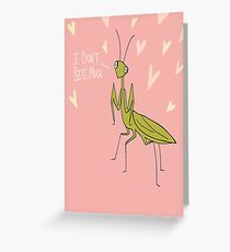 Amorous Mantis Greeting Card