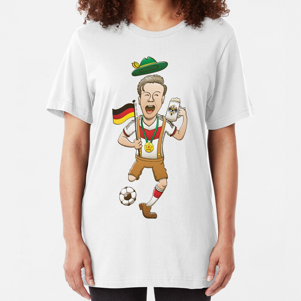 Germany is Four-time World Champion Slim Fit T-Shirt