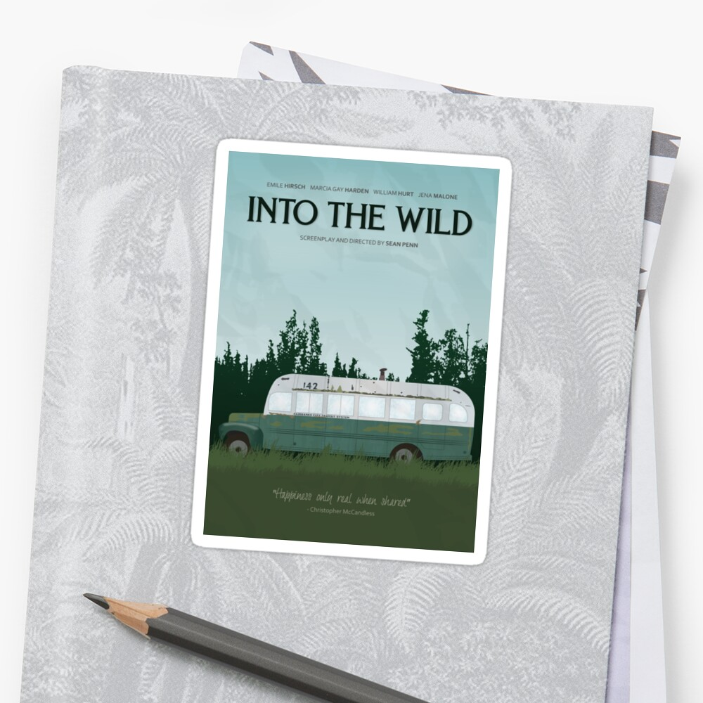 In die Wildnis - Magic Bus Sticker