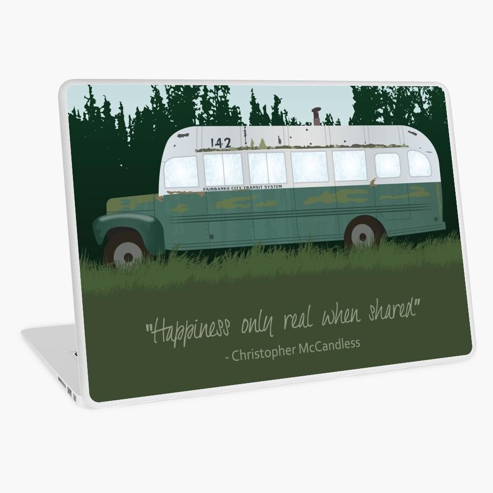 In die Wildnis - Magic Bus Laptop Folie