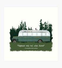 Into The Wild - Bus 142 Art Print