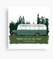 Into The Wild - Bus 142 Canvas Print