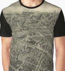 Vintage Pictorial Map of High Point NC (1913) Graphic T-Shirt