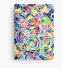 Easter Sunrise Swirls Twirling Eggs Colors Yellow Orange Green Turquoise Blue Purple Violet Shapes Abstract Canvas Print