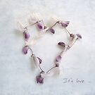 It's Love Wisteria Petals Heart by LouiseK