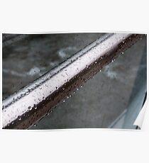 Raindrops on a Railing, Bolzano/Bozen, Italy Poster