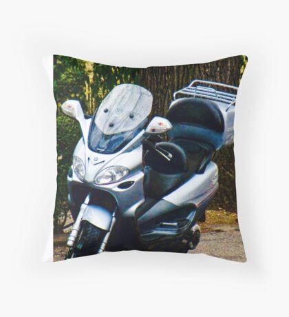 Face on a Moped, Bolzano/Bozen, Italy Throw Pillow