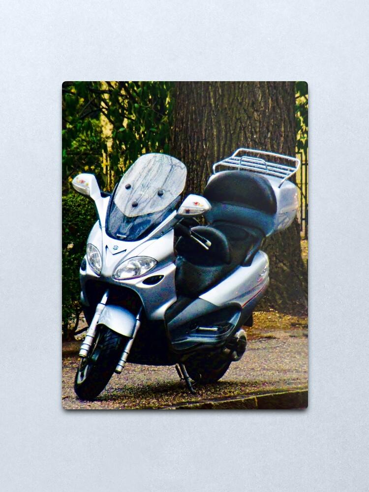 Alternate view of Face on a Moped, Bolzano/Bozen, Italy Metal Print