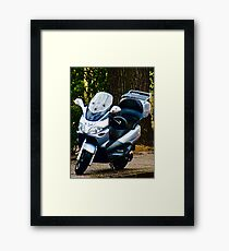 Face on a Moped, Bolzano/Bozen, Italy Framed Print