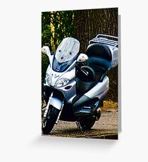 Face on a Moped, Bolzano/Bozen, Italy Greeting Card