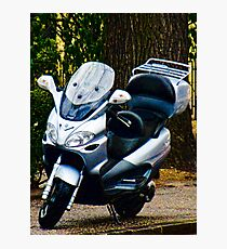 Face on a Moped, Bolzano/Bozen, Italy Photographic Print