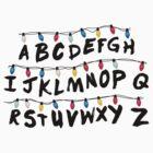Stranger Things - Alphabet Wall by enduratrum