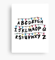 Stranger Things - Alphabet Wall Canvas Print