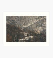 Snow scene, Bolzano/Bozen, Italy  Art Print