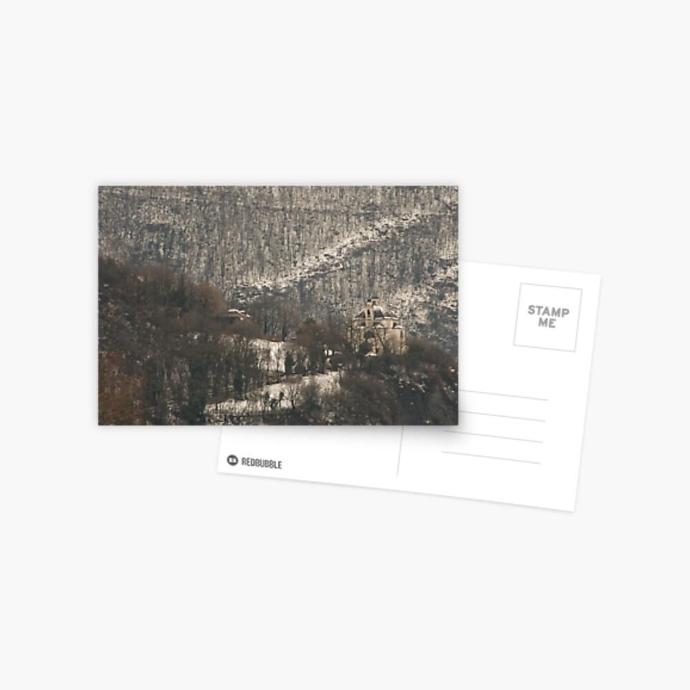Snow scene, Bolzano/Bozen, Italy  Postcard