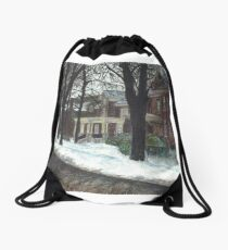 Victorian Homes Drawstring Bag