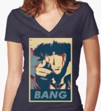 Bang - Spike Spiegel Women's Fitted V-Neck T-Shirt