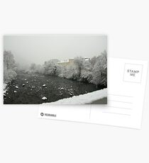 Snow storm on the Talvera River, Bolzano/Bozen, Italy Postcards