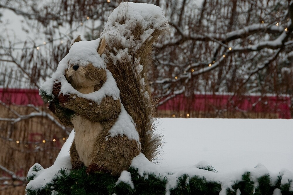 Snow covered animal figure, Christmas Market, Bolzano/Bozen, Italy by L Lee McIntyre