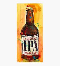 IPA Lagunitas Beer Art Print from Original Watercolor Photographic Print