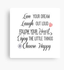 Inspirational Life Quote Affirmations Metal Print