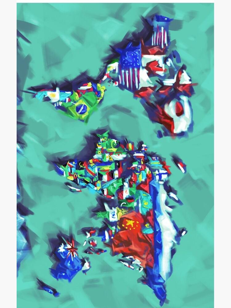 Flaggen der Weltkarte von BekimART