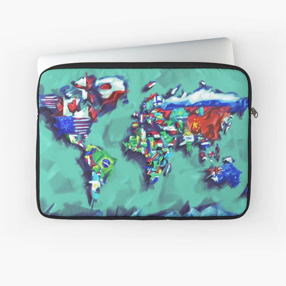 Flaggen der Weltkarte Laptoptasche