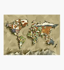 world map flags 2 Photographic Print