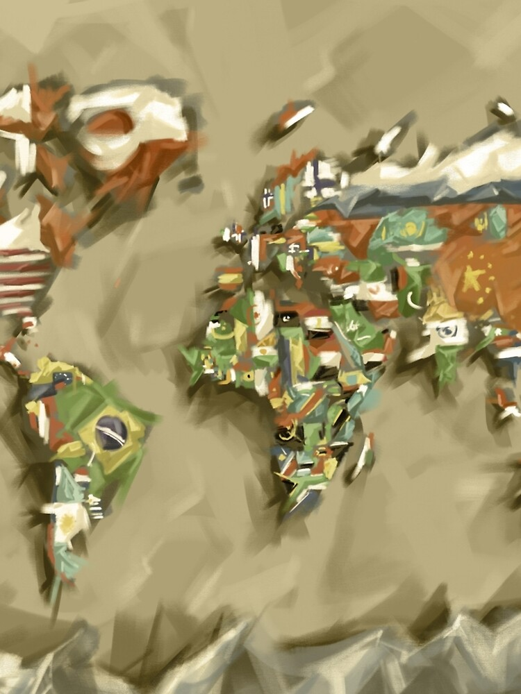 Weltkartenflaggen 2 von BekimART