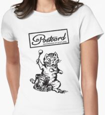 Postcard Records T shirt Womens Fitted T-Shirt