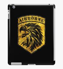 Airborne Shield Vintage Yellow iPad Case/Skin