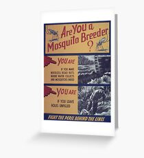 Vintage poster - Mosquito breeder Greeting Card
