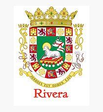 Rivera Shield of Puerto Rico Photographic Print