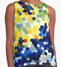 Yellow and Blue Honeycombs Contrast Tank